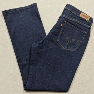 Levis 512 Perfectly Slimming Bootcut Dark Wash Mid
